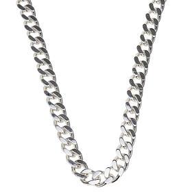 Łańcuch pektorału srebro 925 krawędzie klepane 2 s1