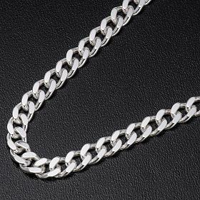 Łańcuch pektorału srebro 925 krawędzie klepane 2 s2