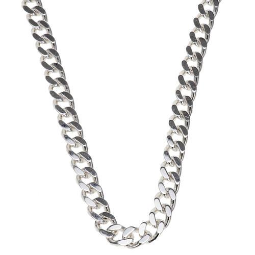 Łańcuch pektorału srebro 925 krawędzie klepane 2 1