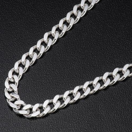 Łańcuch pektorału srebro 925 krawędzie klepane 2 2