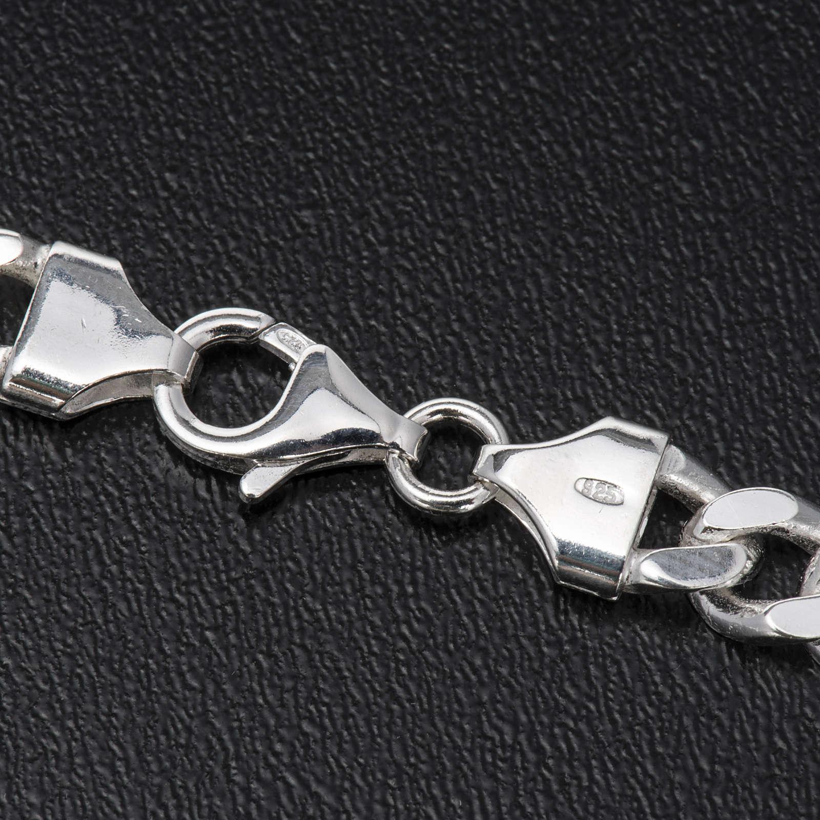 Corrente bispo prata 925 groumett batido 2 lados 90 cm 3