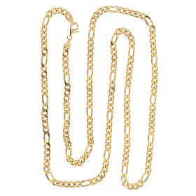 Curb chain in gold plated silver for pectoral cross, 90cm long s2
