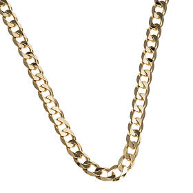Catena vescovo argento 925 dorato battuta 2 lati 90 cm s1