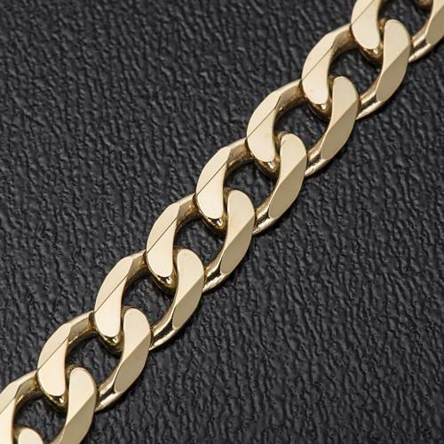 Catena vescovo argento 925 dorato battuta 2 lati 90 cm 3