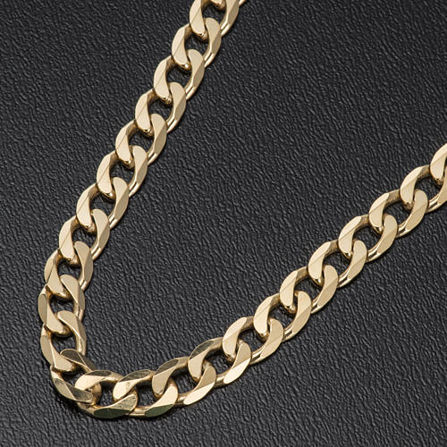 Curb chain in gold plated silver for pectoral cross, 90cm long 2