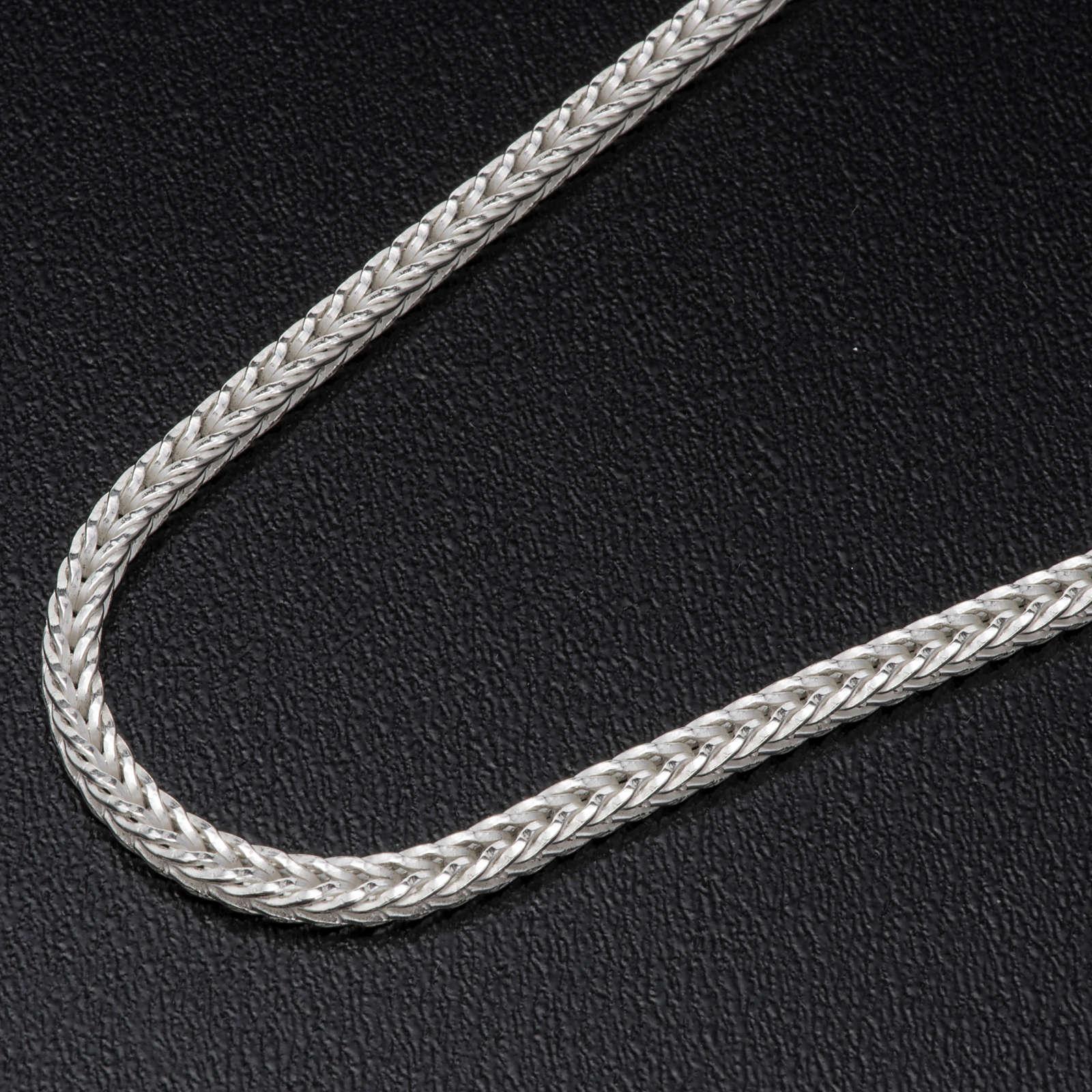 Silver wheat chain for pectoral cross, 90 cm long 3
