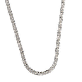 Silver wheat chain for pectoral cross, 90 cm long s1