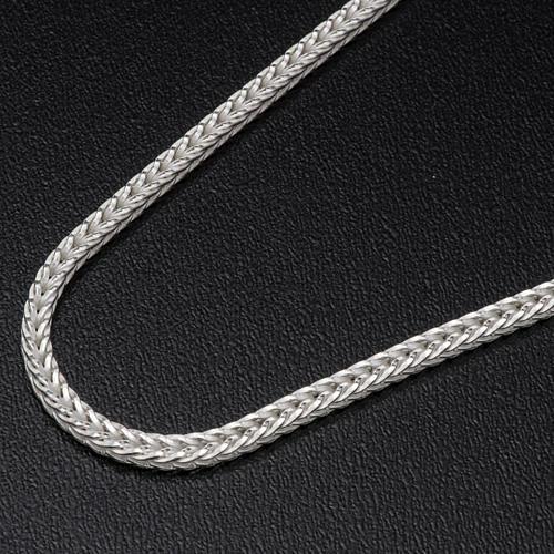Silver wheat chain for pectoral cross, 90 cm long 2