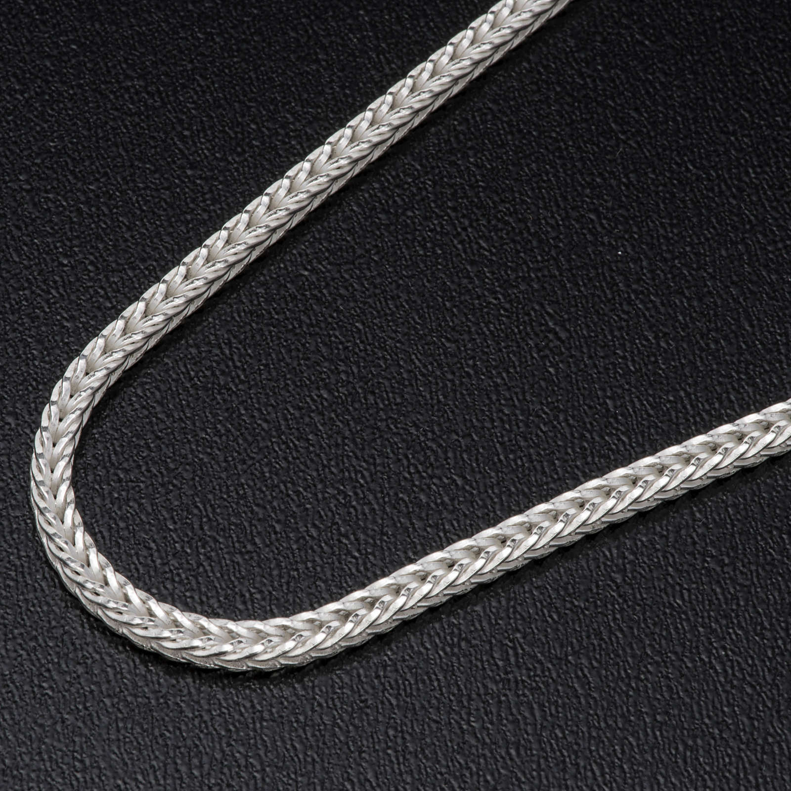 Silver wheat chain for pectoral cross, 90 cm long 3