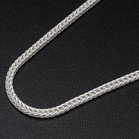 Silver wheat chain for pectoral cross, 90 cm long s2