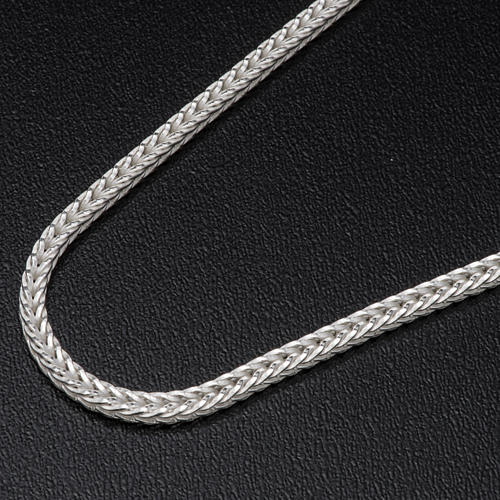 Silver wheat chain for pectoral cross, 90 cm long 2