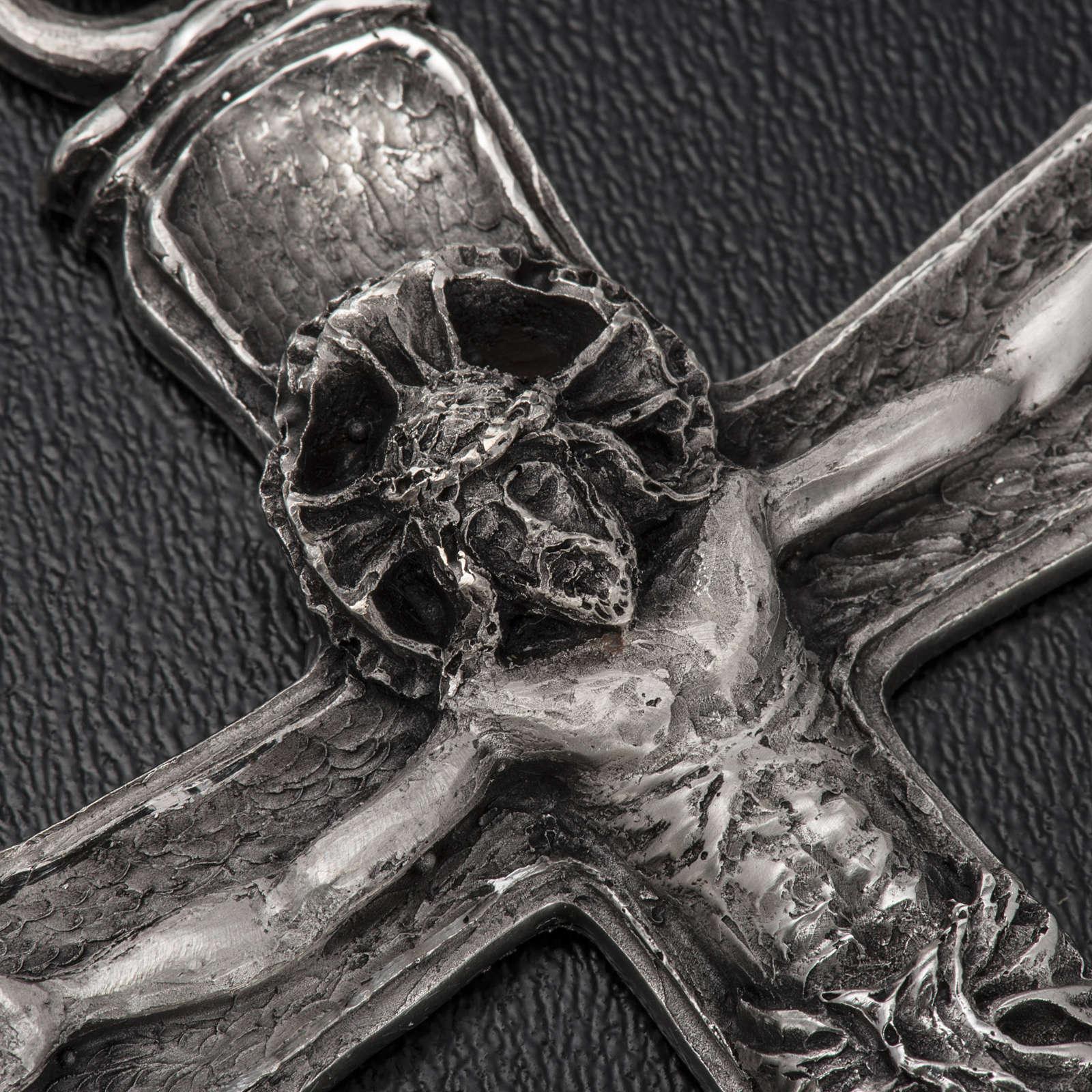 Croce vescovo argento 925 3