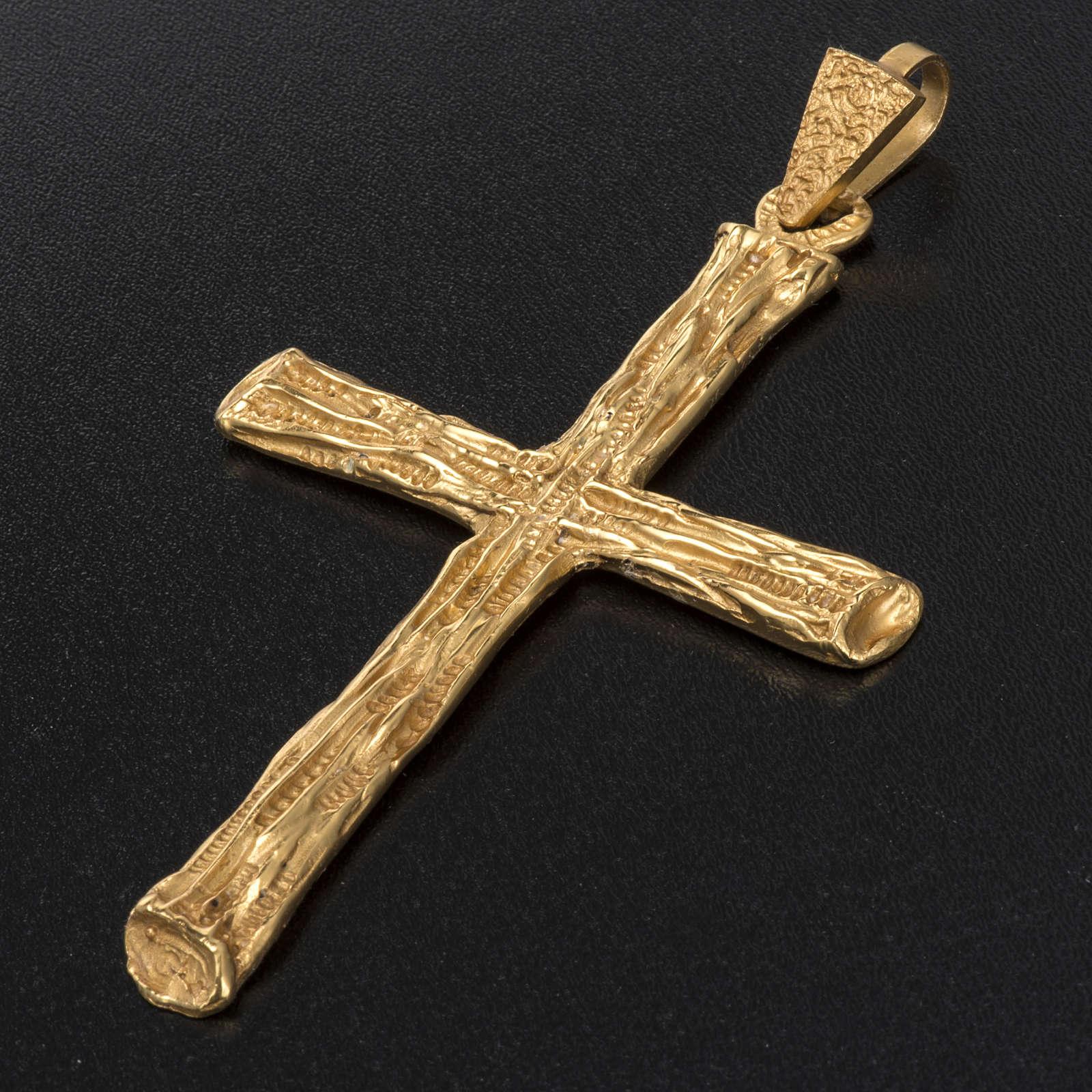 Croix pectorale  argent 925 doré 3
