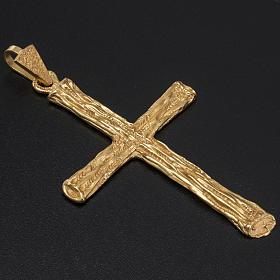 Croce pettorale per vescovo argento 925 dorato s2