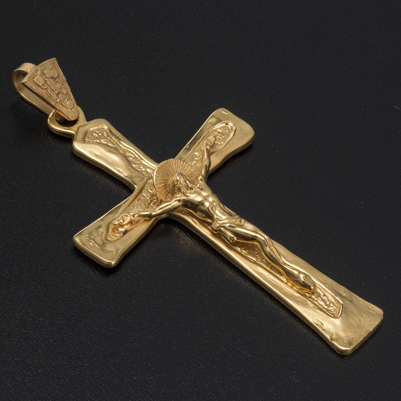 Croce episcopale argento 925 dorato 3