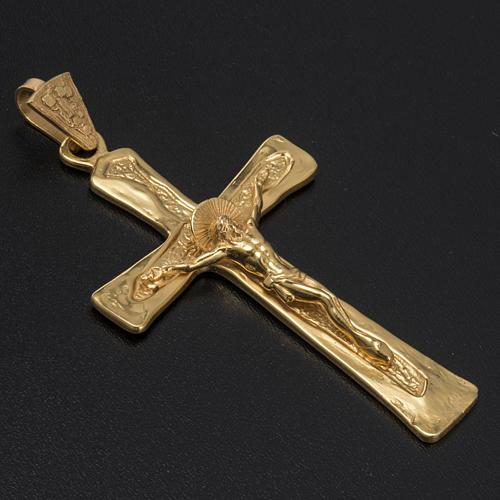 Croce episcopale argento 925 dorato 2