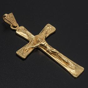 Cruz peitoral prata 925 dourada s2