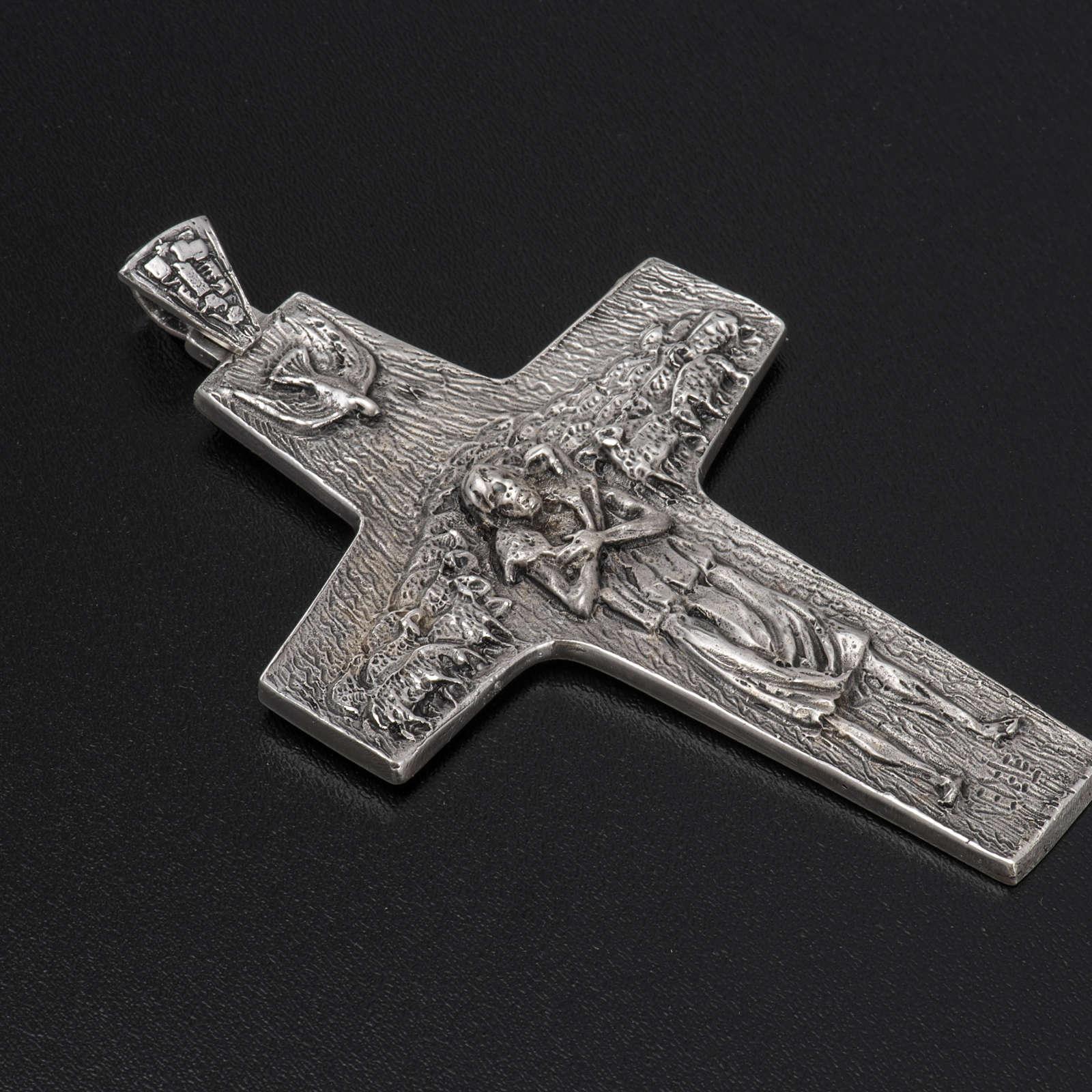 Burstkreuz Papst Franziskus Silber 925 3