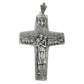 Burstkreuz Papst Franziskus Silber 925 s1