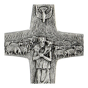 Burstkreuz Papst Franziskus Silber 925 s2