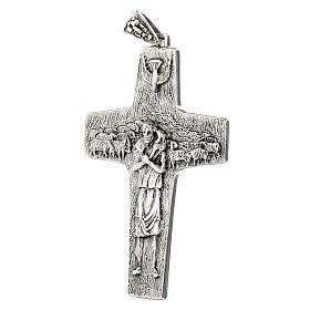 Burstkreuz Papst Franziskus Silber 925 s3