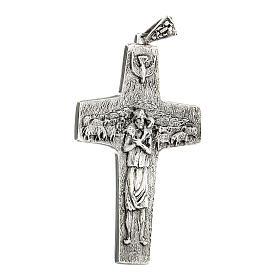 Burstkreuz Papst Franziskus Silber 925 s4