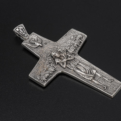 Burstkreuz Papst Franziskus Silber 925 2