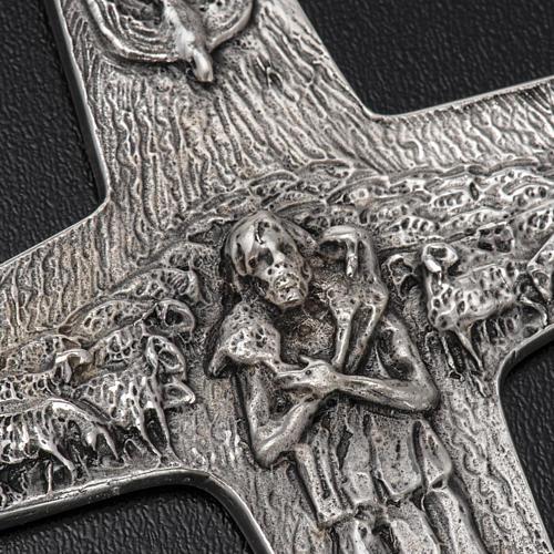 Burstkreuz Papst Franziskus Silber 925 4