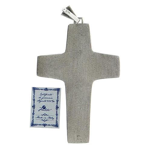 Burstkreuz Papst Franziskus Silber 925 6