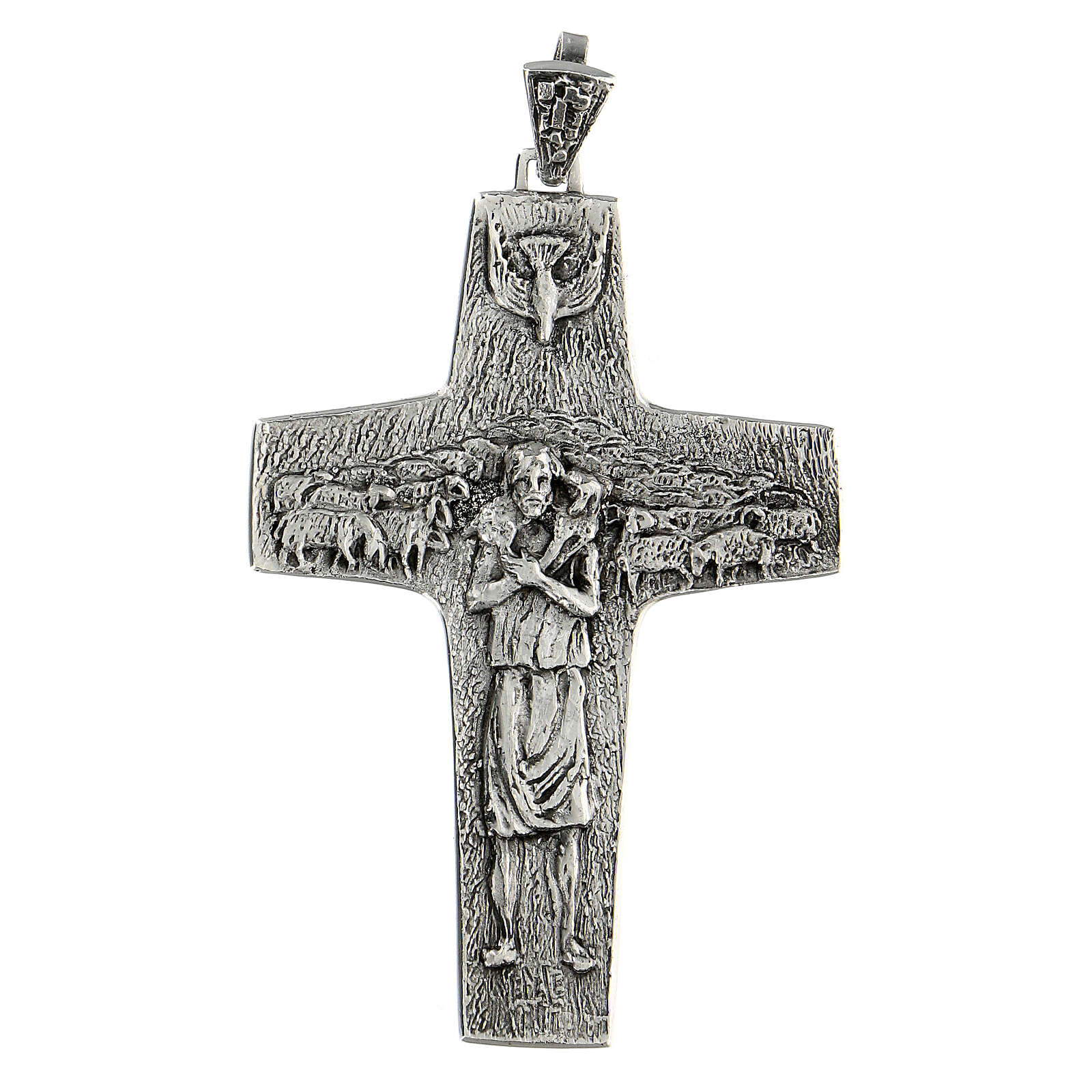 Pope Francesco silver pectoral cross 3