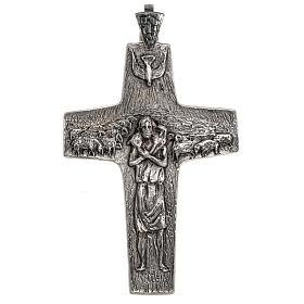 Pope Francesco silver pectoral cross s1
