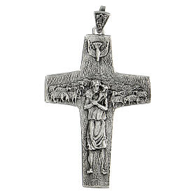 Pope Francesco silver pectoral cross s1