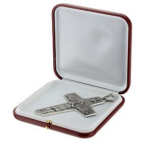 Pope Francesco silver pectoral cross s7