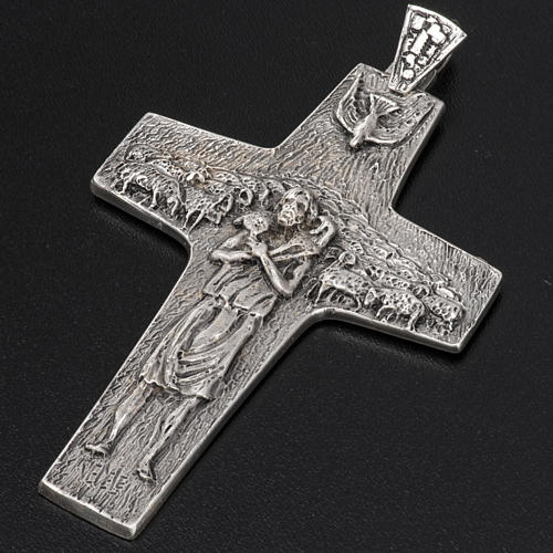 Croce Papa Francesco argento 925 5