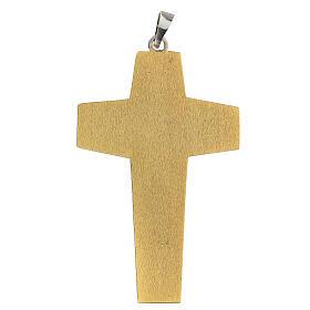 Croce pettorale vescovile ottone bicolore s3