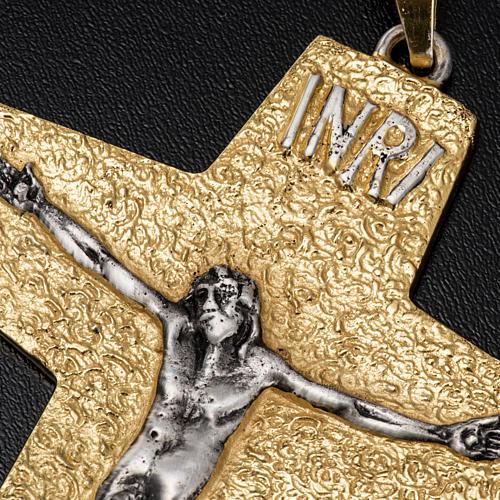 Croce pettorale vescovile ottone bicolore 4