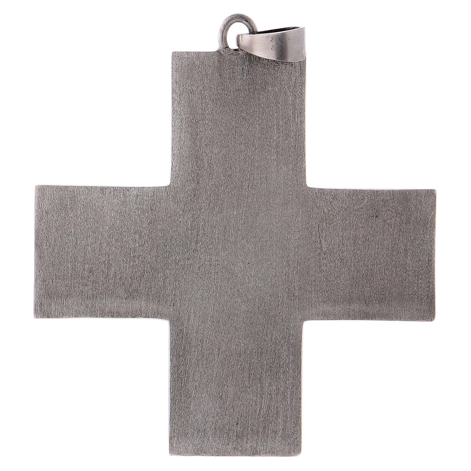 Cruz pectoral latón escenas de la vida de Jesús 3