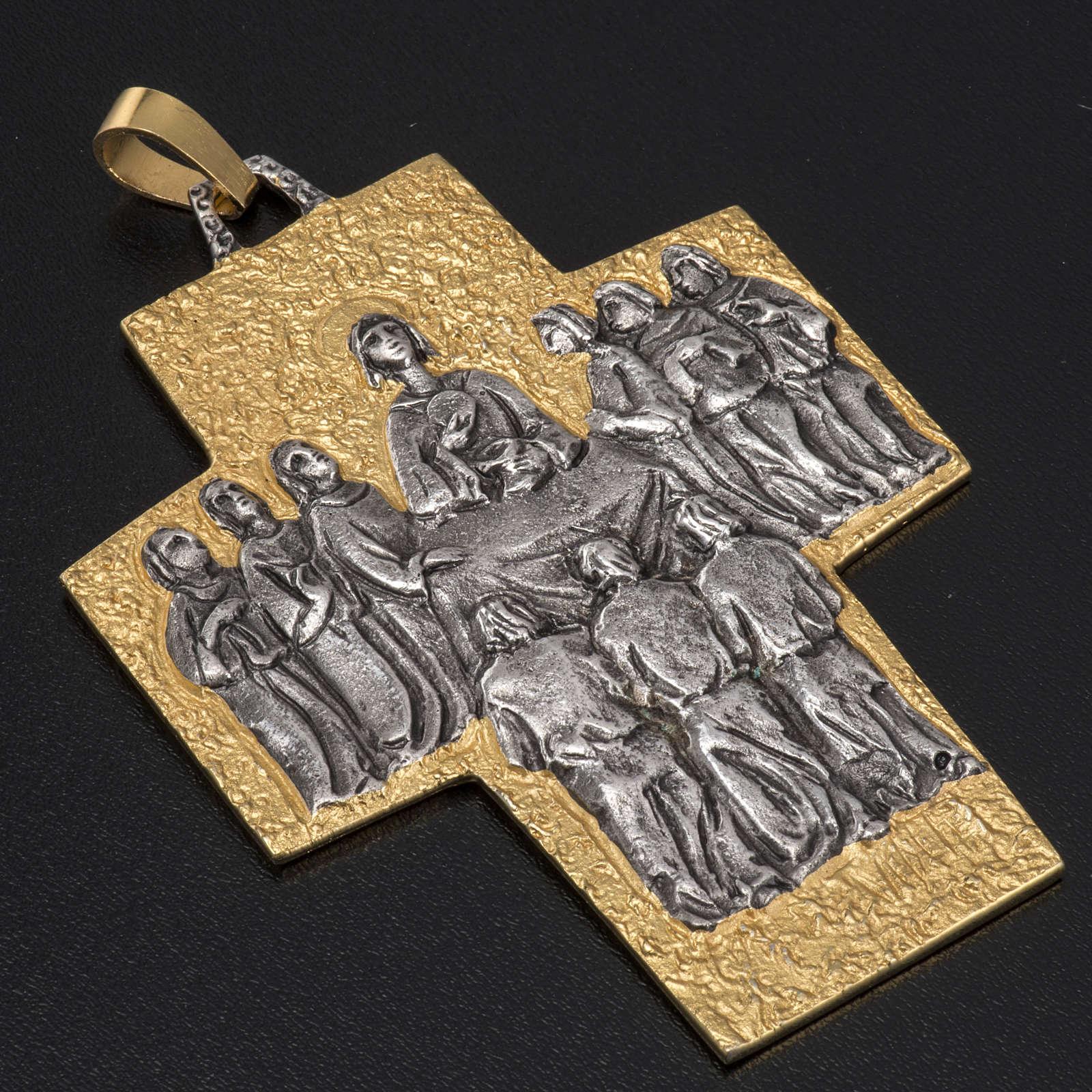 Croce vescovo ottone Ultima Cena 3