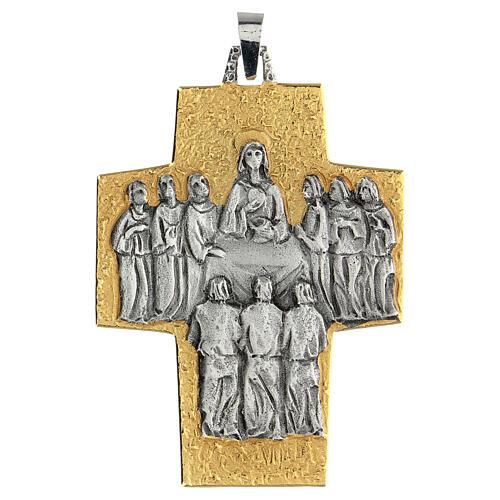 Croce vescovo ottone Ultima Cena 1