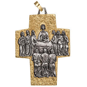 Pectoral cross in brass, Last Supper s1