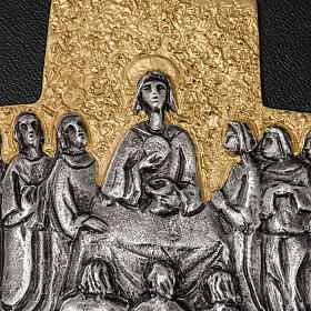 Pectoral cross in brass, Last Supper s3