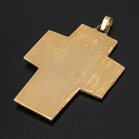 Pectoral cross in brass, Last Supper s4