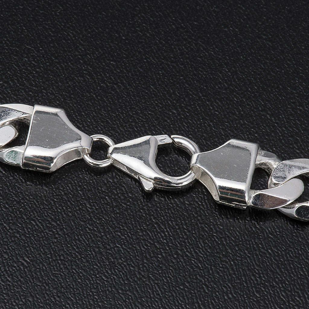 Cadena para cruz pectoral plata 925 - 90 cm. 6 lados 3