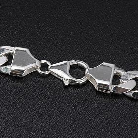 Cadena para cruz pectoral plata 925 - 90 cm. 6 lados s4