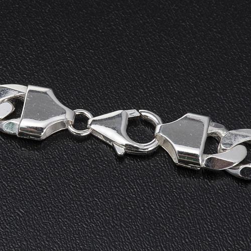 Cadena para cruz pectoral plata 925 - 90 cm. 6 lados 4