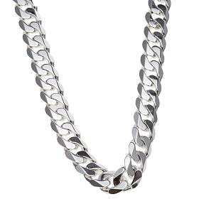 Curb necklace chain in Silver 925 for pectoral cross, 90 cm long s1