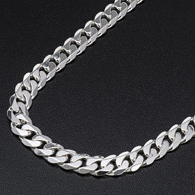 Curb necklace chain in Silver 925 for pectoral cross, 90 cm long s2