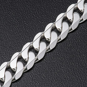 Curb necklace chain in Silver 925 for pectoral cross, 90 cm long s3