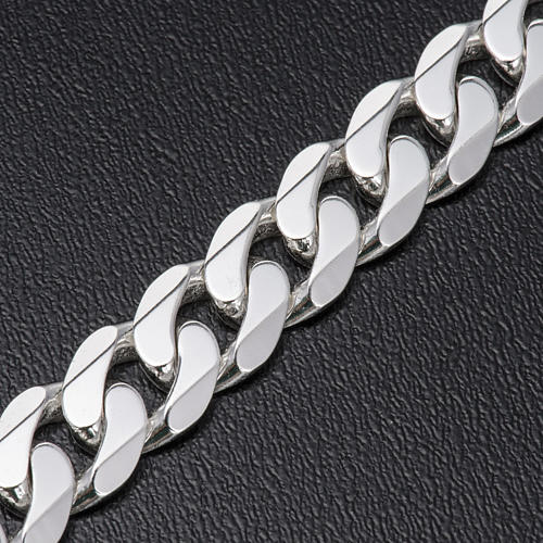Curb necklace chain in Silver 925 for pectoral cross, 90 cm long 3