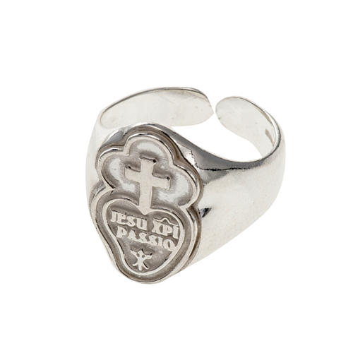 Bishop's ring made of 925 silver, Passionists 1